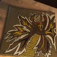 Leaf Dragon inpired by yoga bolster