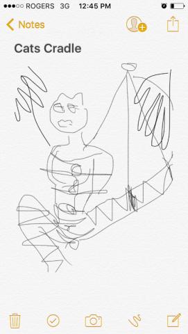 Cat's Cradle iPhone concept sketch